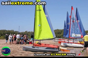 Fleet-racing-with-the-X3-sailing-dinghy