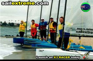 X3-sailing-dinghy-X3-Fun+Fun-Gennaker-fleet-melbourne